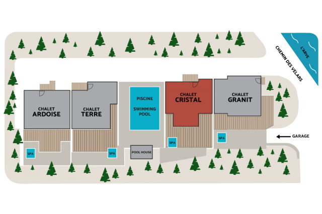 CHALET CRISTAL LOCATION PLAN