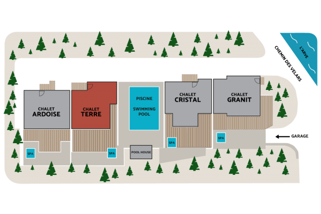 CHALET TERRE LOCATION PLAN